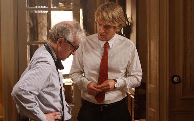 """Allen junto al actor Owen Wilson durante la filmación de """"Midnight in Paris"""" (2011)"""