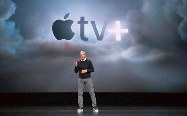 Tim Cook, CEO de Apple, en la presentación de este lunes 25.