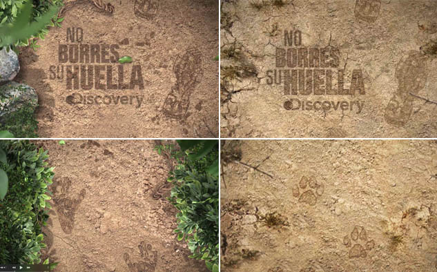 """La campaña ganadora """"No borres su huella"""" (Discovery Channel); ideada para crear conciencia sobre el impacto del hombre en la extinción de las especies."""