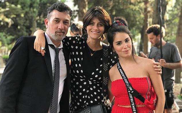 Alejo García Pintos, con una participación especial en el tráiler, junto a Mónica Antonópulos y la directora Lali Espósito.