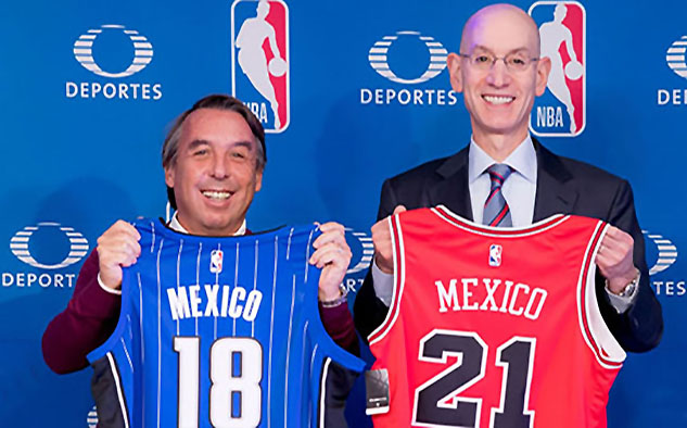 Televisa ofrecerá por primera vez los NBA Mexico City Games de esta temporada: Chicago Bulls vs.Orlando Magic y Utah Jazz vs. Orlando Magic.