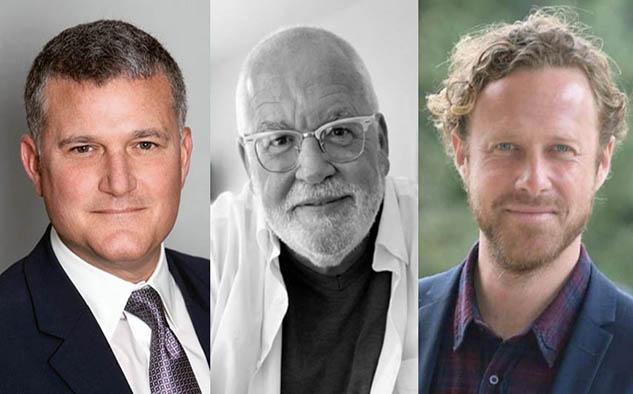 """Stephen J. Davis, productor; Daniel Knauf, productor ejecutivo y Jan Michelini, director, encabezan el equipo realizador de """"The Rising""""."""