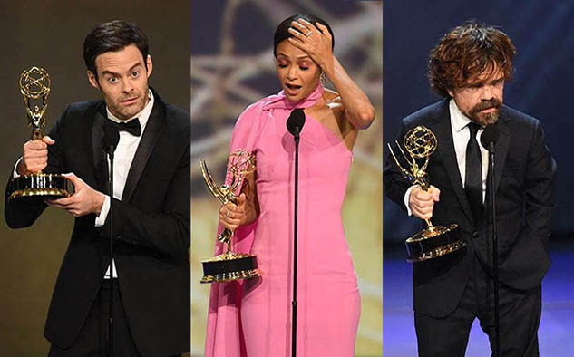 Bill Hader, Thandie Newton y Peter Dinklage, galardonados por su trabajo de actuación.