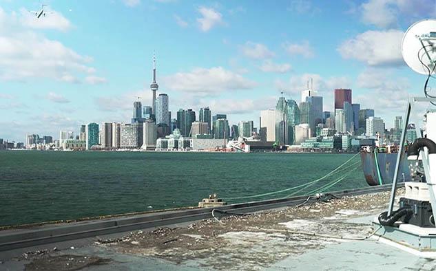 Vista de Toronto desde los puertos, zona donde se ubicaran los estudios de Netflix.