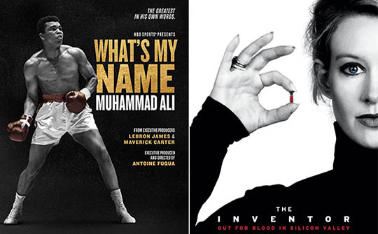 """""""What's my Name: Muhammad Ali"""" y """"The Inventor: Out for Blood in Silicon Valley"""", dos de los documentales a estrenarse."""