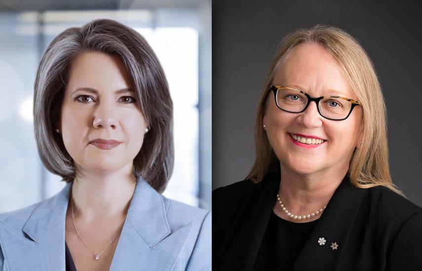 Christa Dickenson, directora ejecutiva y CEO de Telefilm Canada y alerie Creighton, presidenta y CEO de CMF.