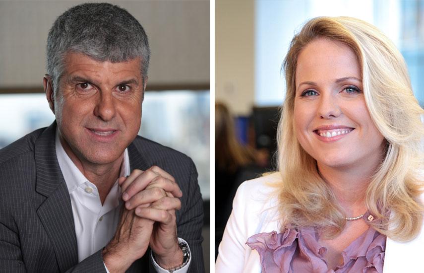 Antonio Álvarez, gerente de Programación de Cablevisión, y Anna Gordon, vicepresidente ejecutiva y directora gerente de BBC Worldwide Latin America/US Hispanic.