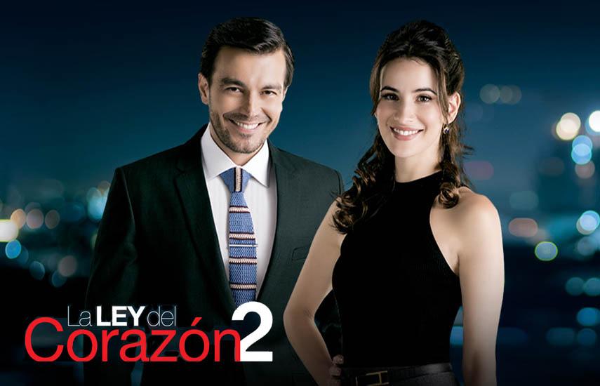 """Los protagonistas de """"La Ley del Corazón"""", Luciano D'Alessandro y Laura Londoño. (Foto cortesía RCN)"""