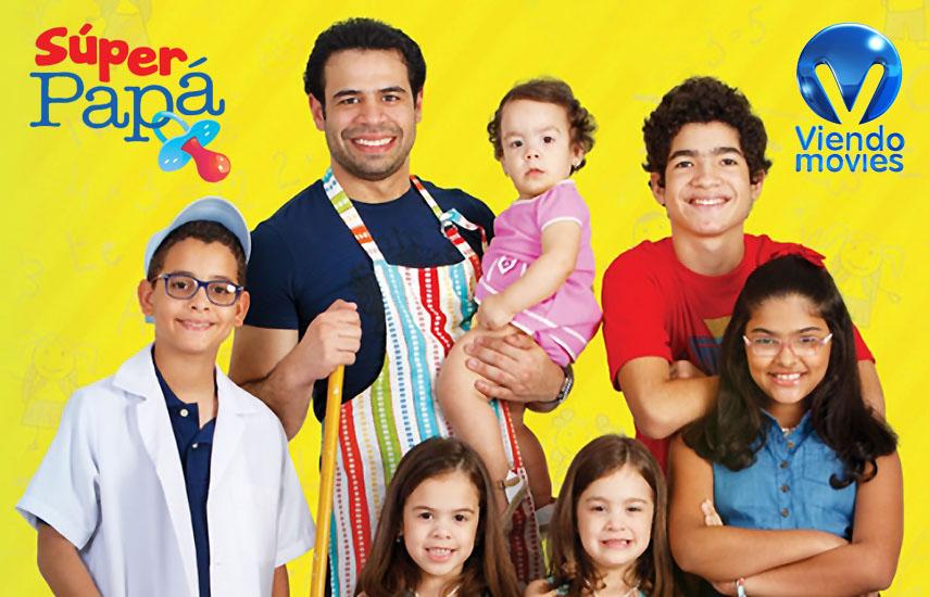 """En """"Súper papá"""" (República Dominicana), el comediante Roberto Ángel Salcedo interpreta a Juan, un papá que quedó viudo con seis hijos."""