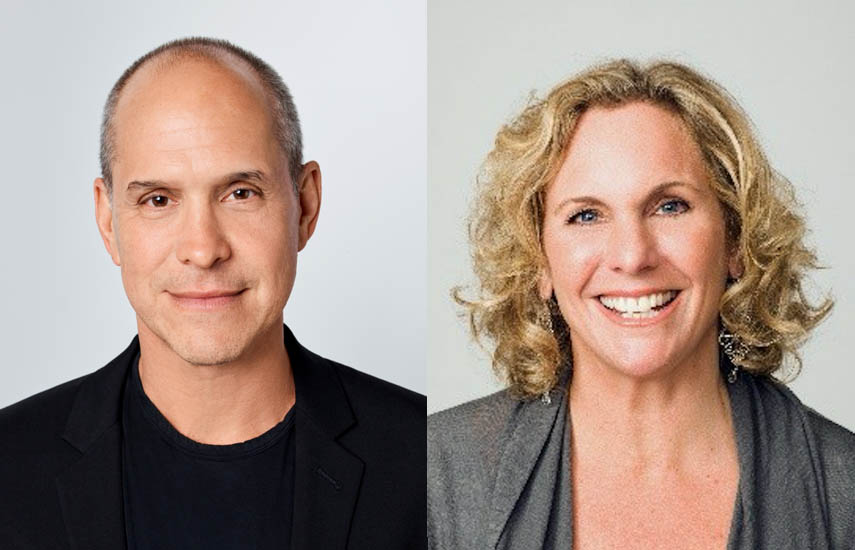 Brian Robbins, presidente de Nickelodeon y Melissa Cobb, vicepresidenta de Animación Original en Netflix.