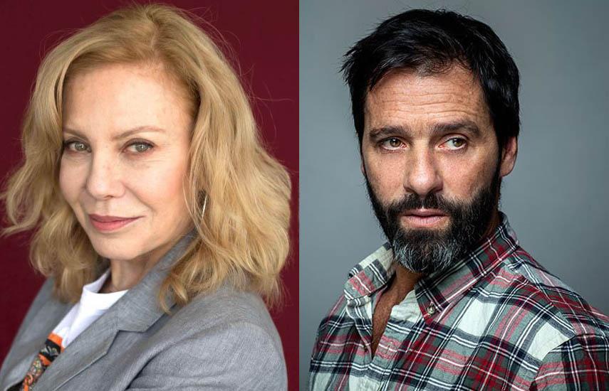 Cecilia Roth y Juan Pablo Shuk, protagonistas centrales del nuevo seriado que comenzó su rodaje en Colombia.
