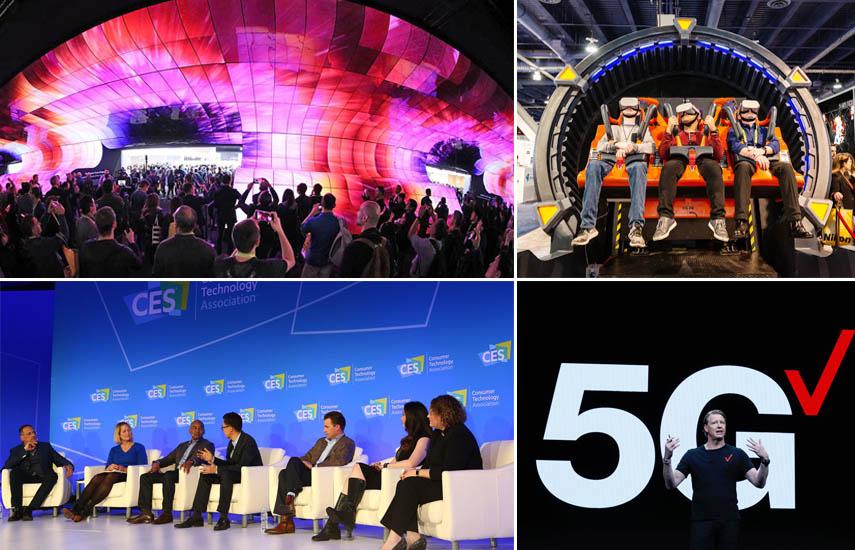 El escenario inaugural de CES 2019 contó con la presencia de algunos de los nombres más importantes en la tecnología, incluyendo AMD, AT&T Communications, IBM, LG y Verizon. (Foto: @CES)