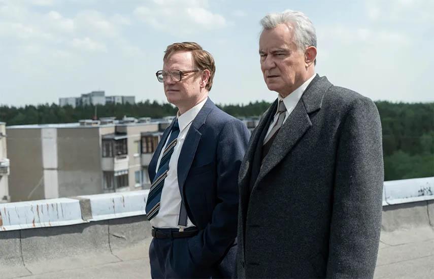 """Jared Harris y Stellan Skarsgard, ambos nominados a mejor actor principal y secundario en """"Chernobyl"""" (Sky Atlantic)"""