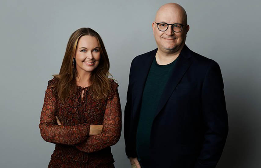 Christina Sulebakk, directora general de HBO Max EMEA, yJohannes Larcher, director de HBO Max International.