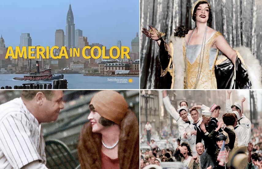 """A través de modernas técnicas de coloración """"America in color"""" transforma la historia estadounidense que la mayoría solo ha visto en blanco y negro desde 1920 hasta 1960"""