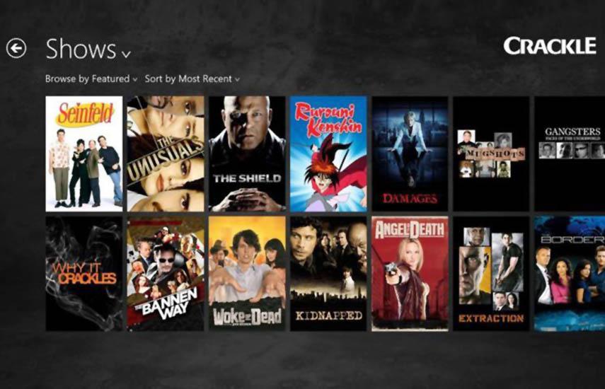 Crackle Latin America se lanzó en abril de 2012 como una oferta OTT sostenida por publicidad, al igual que la versión estadounidense.
