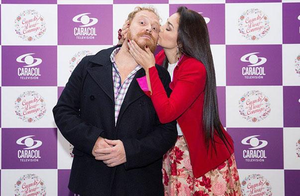 Christian Tappan y Lucía Callejas en el lanzamiento de Cuando vivas conmigo