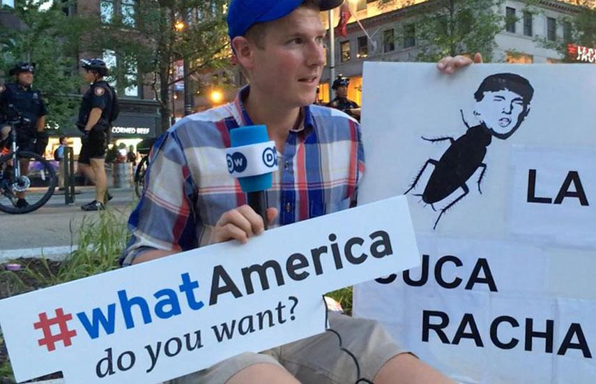 Participante de la campaña What America de DW: herramienta interactiva para comprender un acontecimiento político fundamental