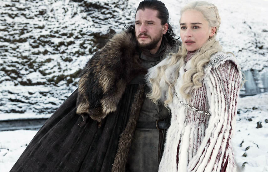 Kit Harington y Emilia Clarke, protagonistas de Game of Thrones.