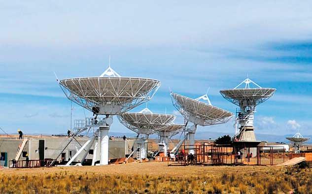 La estación terrena de Amachuma, cuenta con 6 antenas ya construidas por CGWIC.