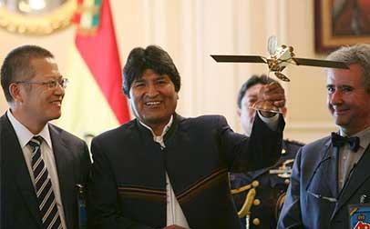 El presidente boliviano Evo Morales, prestará servicio a otros países sudamericanos.