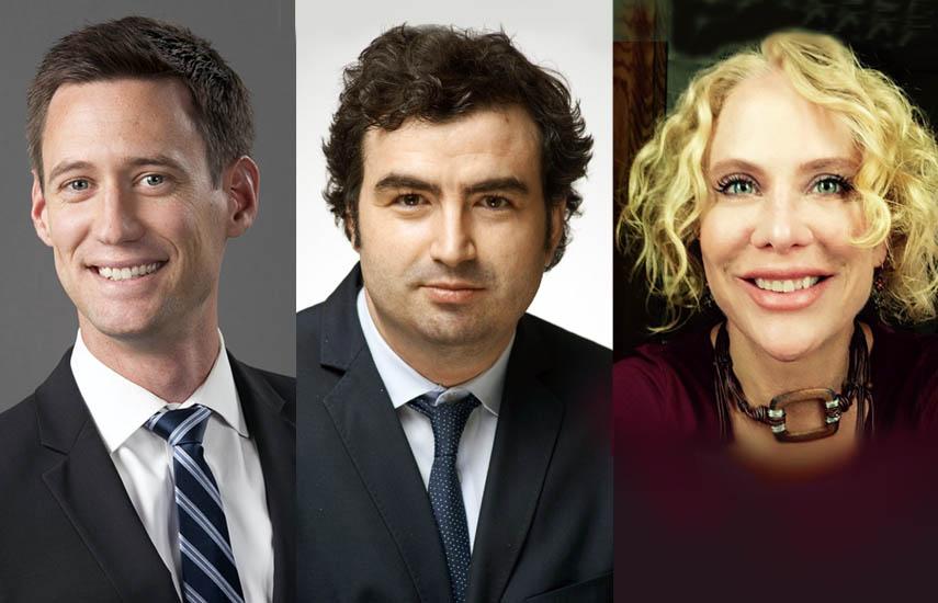 Steve Lescroart, nuevo director de finanzas y estrategia; Nick Reder, VP para asuntos legales y de negocios, y Jill Danton, VPE para producción.