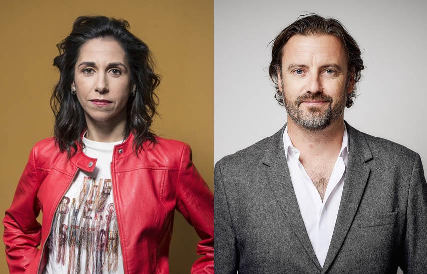 Fidela Navarro, CEO de Dopamine, y Richard Halliwell, CEO de DRG y director ejecutivo de NENT Studios UK.