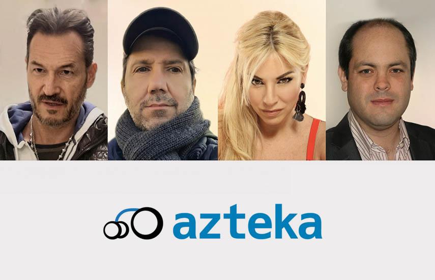Daniel Stigliano, CEO y chairman; el director, Sergio Cento Docato (socios fundadores), la actriz Maite Zumelzú, y socio europeo, Martín Cappelletti.