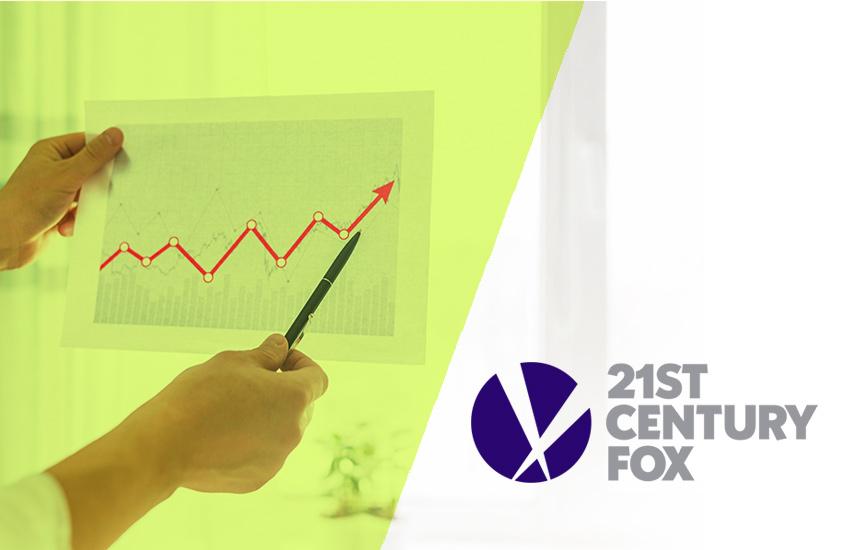 Fox dijo que el acuerdo de Disney de julio, en donde Disney se combinará con los estudios de cine y TV de Fox, permitió que el precio de sus acciones aumentara aproximadamente un 75% durante el año fiscal, significativamente por encima del crecimiento promedio del 12% para S&P 500.