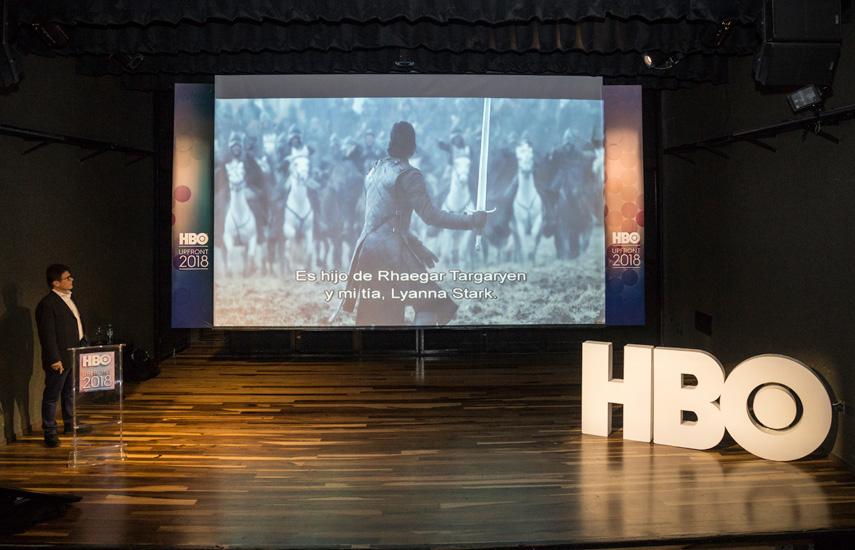 Gustavo Grossman presenta las novedades 2018 en el Upfront realizado en la ciudad de Buenos Aires.