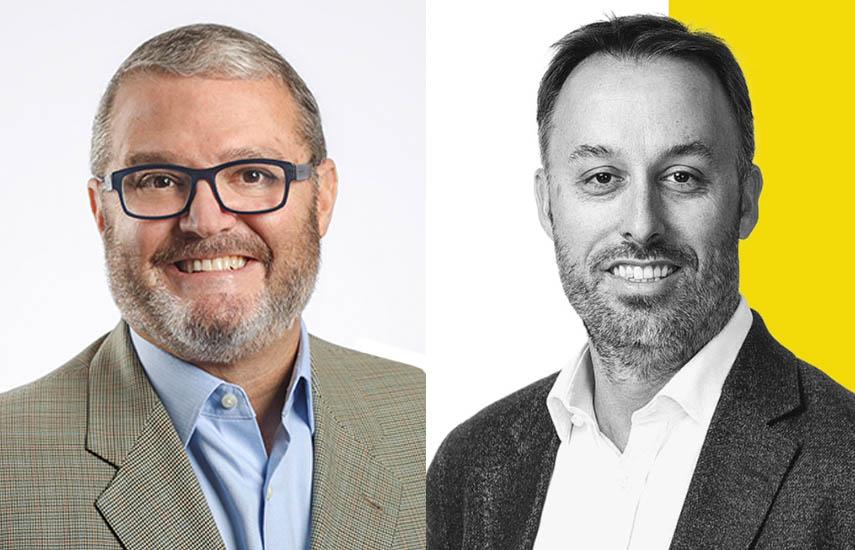 Javier Figueras, vicepresidente corporativo de Relaciones con Afiliados para HBO Latin America y Sean Summers, CMO de Mercado Libre.