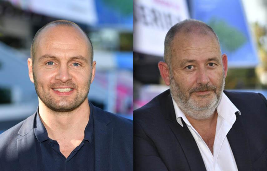 El productor islandés Hordur Runarsson y Marc Pos, productor de IDTV.