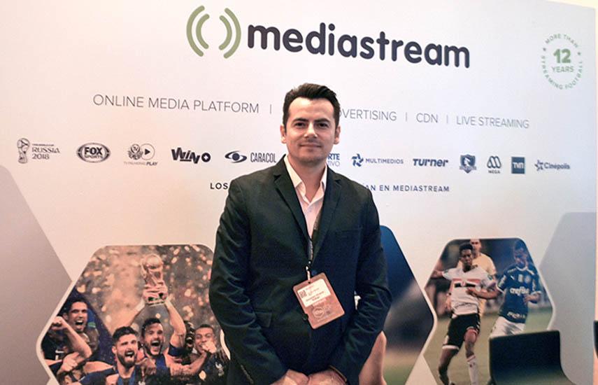 Jhonathan Olivares, gerente para el territorio Norte de Latinoamérica de Mediastream.