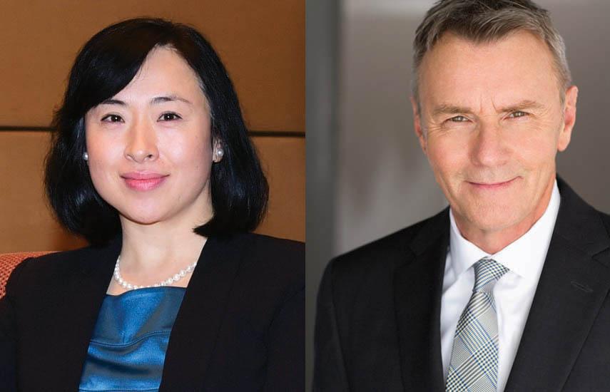 Jianing Shen, vicepresidenta ejecutiva de CITVC y gerente general de CHNPEC, y JP Bommel, presidente y CEO de NATPE.