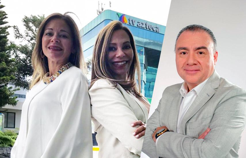 Carmiña Ortiz (presidenta de H20 Programación), Rosy Ortiz (VP de H20 Programación) y Jorge Gutiérrez, director de AZ TV de Paga.