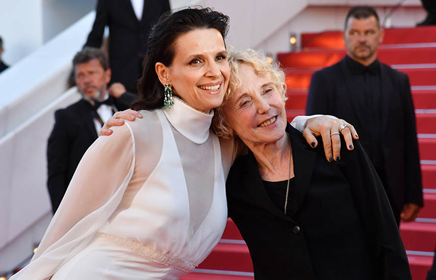 La actriz Juliette Binoche y la directora Claire Denis en el festival de Cannes 2017. La directora y guionista francesa Claire Denis presidirá el jurado de la Sección de Cortometraje y la Cinéfondation en la 72ª edición del Festival de Cannes (2019).