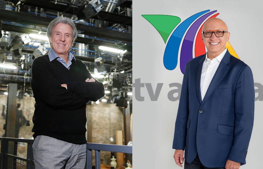 Patricio Wills, presidente de Televisa Studio, y Alberto Ciurana, Director de Contenido y Distribución de TV Azteca.