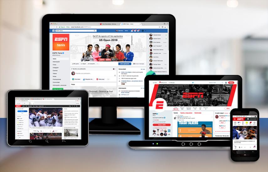 ESPN mantuvo la mejor calificación general con 124 millones de acciones, junto con 7,1 millones de shares de los usuarios.