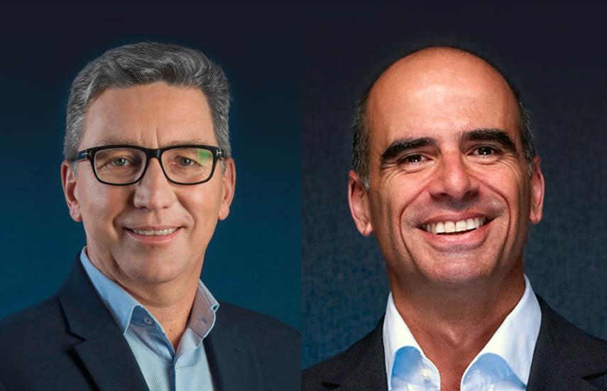 Carlos Moltini, ejecutivo principal hasta fin de año; y Roberto Nobile, su sucesor.
