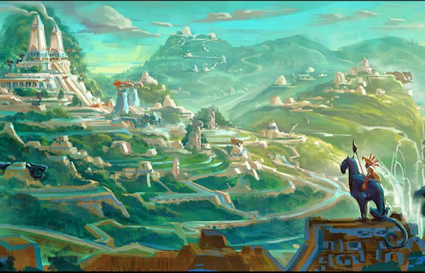 'Maya and the Three' (2021) está ambientada en un mundo mítico de inspiración mesoamericana.