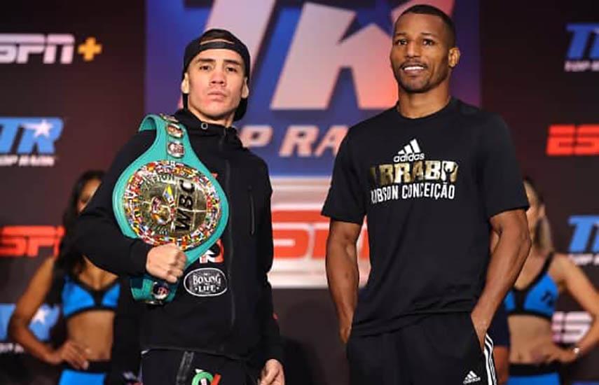 La próxima velada de Top Rank en ESPN Knockout, será encabezada por el combate estelar entre el mexicano Óscar Váldez y el brasileño Robson Conceicao, por el campeonato superpluma del WBC.