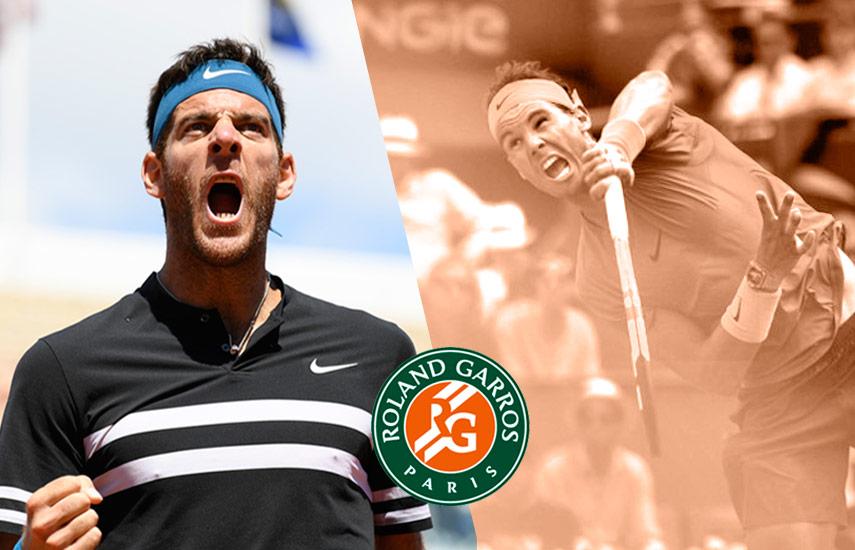 Rafael Nadal y el argentino Juan Martín del Potro disputarán mañana un puesto en la gran final