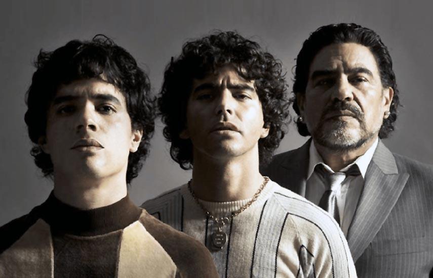 Nicolas Goldschmidt encarnará al Maradona de los primeros años como futbolista; Nazareno Casero durante su ascenso a la fama y Juan Palomino en sus días más oscuros.