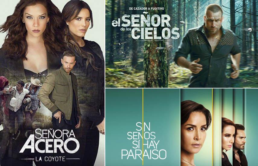 """Las nuevas temporadas de 'El Señor de los Cielos' y 'Sin Senos Sí Hay Paraíso"""" se colocaron como las tres series programadas regularmente de mayor audiencia en toda la televisión en español entre adultos 18-49 y 18-34."""