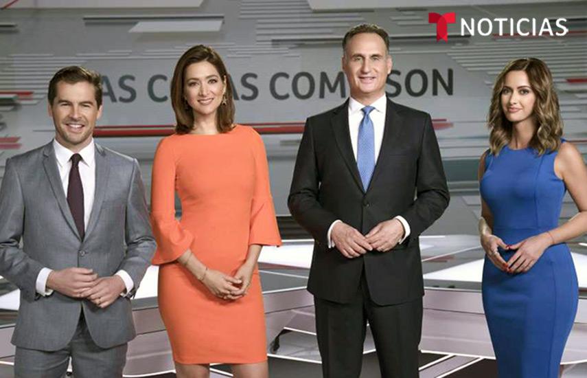 Julio Vaqueiro, Felicidad Aveleyra, José Díaz-Balart y Paulina Sodi. (Foto: Telemundo)
