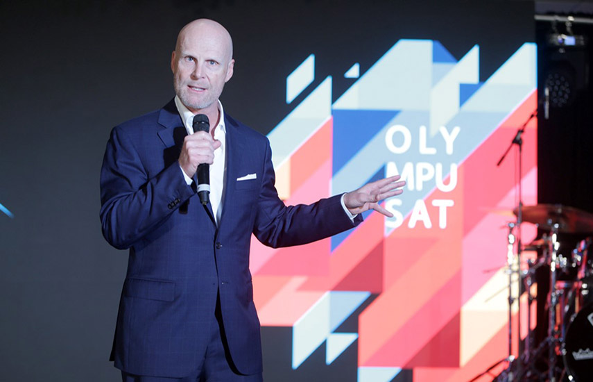 El fundador y CEO de Olympusat, Tom Mohler, presentó la historia
