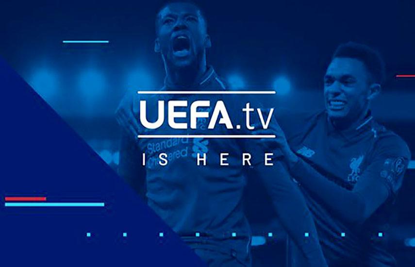 UEFA.tv está disponible en la página web www.uefa.tv y en aplicaciones móviles y en iOS y en Android.