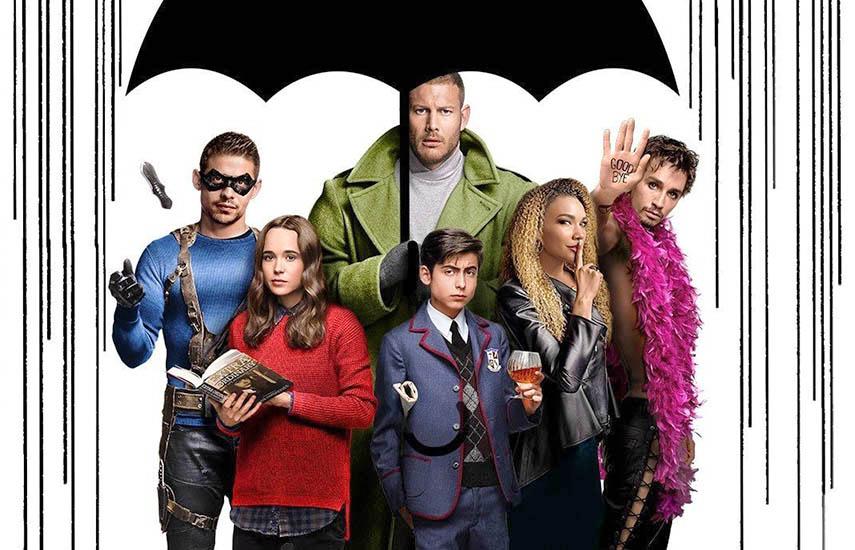 """""""The Umbrella Academy"""" (Netflix) lidera la lista con 1.240.600 expresiones de demanda."""