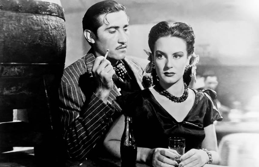 """""""Víctimas del pecado"""" (1951), dirigida por Emilio """"El Indio"""" Fernández y protagonizada por Ninón Sevilla, es un ejemplo contundente del género de rumberas muy popular en la época."""