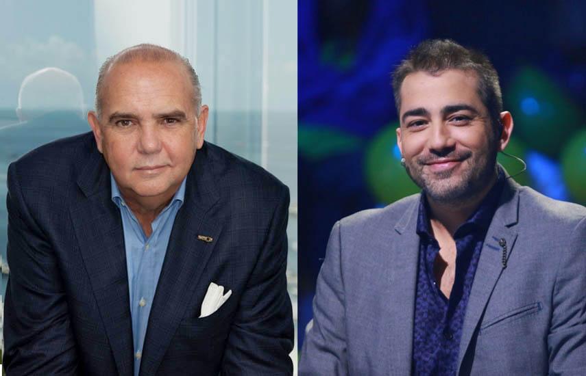 Luis Villanueva, presidente de Somos Distribution; y Sebastian Mellino, principal ejecutivo de Onceloops.